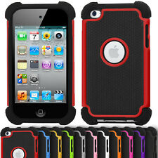 Shock Proof Defender Case for Apple iPod Touch 4 Dual Armour Hard Silicone Cover