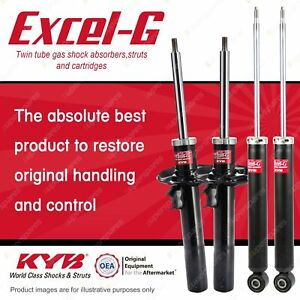 Front + Rear KYB EXCEL-G Shock Absorbers for SKODA Yeti 5L 90 CAXA 1.2 FWD SUV
