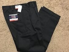 NWT IZOD American Chino Classic-Fit Khaki Double Pleat Pant Navy 40X29 MSRP$50