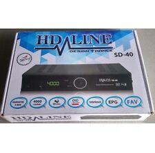HD-LINE sd-40 DEMODULATOR Satellite FTA DECODER SCART/SCART/RCA