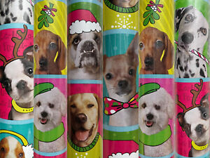 1 Roll Holiday Christmas Dogs Dress Up Christmas Wrapping Paper