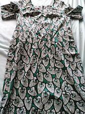 Gorgeous green, black, cream deco leaf cotton dress. Joe Browns. SZ 16. BNWOT