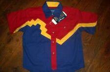 WRANGLER BONANZA Boys Western Shirt XXS 12 18 MO $30 NEW NWT!!! AWESOME COLORS!!