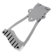 Guitar Bridge Trapeze Tailpiece For Archtop Jazz Guitar Parts Chrome Hollow Body