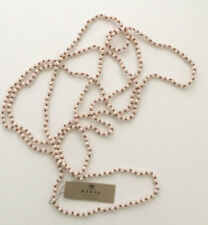 Barse Brand Small Faceted Blush Pink Crystal Beaded on Silk Cord Necklace