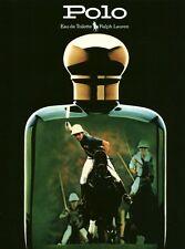 Publicité ancienne parfum eau de toilette Polo Ralph Lauren non parfumé