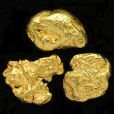 3 pcs Alaska Natural Gold Nuggets - Alaskan Gold - TVs Gold Rush (#3GTC3-4-1)