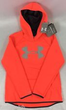 Under Armour GIRL'S Sweater Hoodie Storm Cold Gear Pink Gray Logo Size YOUTH XL