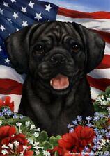 Patriotic (1) House Flag - Black Puggle 16280