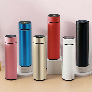 500ml Smart Vacuum Flask Stainless Steel Thermos Cup Display Temperature Bottle
