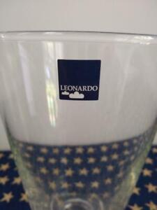 "Leonardo of Germany Glass Vase/Candle Holder- Purple 5"" Tall"