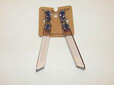 Rectangle Rachel Comey $178 Anthropologie Earrings Rhinestones Blue Clear