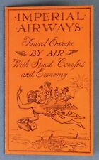 IMPERIAL AIRWAYS AIRLINE BROCHURE 1933 WITH TIMETABLE & ROUTE MAP