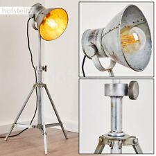 Lampadaire Lampe sur pied grise lampe de sol Lampe de lecture Éclairage de salon
