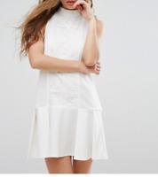 Missguided Lace Panel Drop Hem Dress (M57/12)