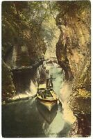 CPA 73 Savoie Aix les Bains Gorges du Sierroz animé bateau