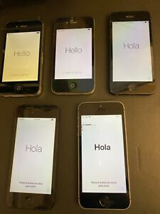 X5 iPhone Job-lot - x1 iPhone SE 2016, x2 iPhone 5, x2 iPhone 4s