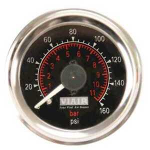 VIAIR 90082 2in Dual Needle Gauge (Black Face, Illuminated 160 PSI)