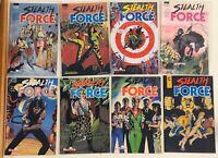 Lot x 8 Stealth Force Malibu Comics Full Fun 1-8 HIGH GRADE & UNREAD