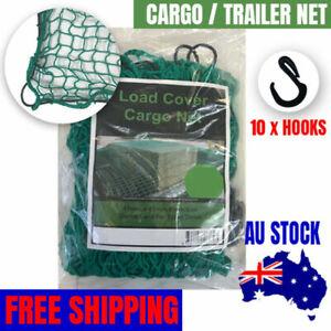 Green Visinet Quality Cargo / Single Cab Tray Ute Net 2.5m x 2.2m (10 Hooks)