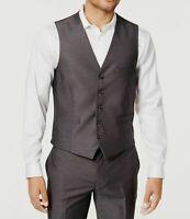INC Mens Vest Dark Gray Size Medium M Five-Button Royce 3-Pocket $39 #050