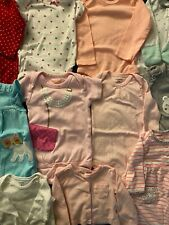 30+ Pieces Size 3-6-9 Month Baby Girl Clothes Lot Clean, Gently Used Condition