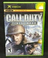 Call of Duty Finest Hour  - Original Microsoft Xbox Game 1 Owner Near Mint Disc