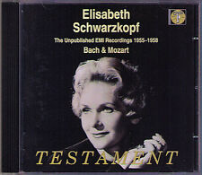 Schwarzkopf Unpublished BACH MOZART 1955-8 Testament CD Ch 'io mi Scordi di te?