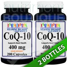 Coenzyme Q-10 400 mg CoQ10 CO Q-10, CoQ-10 2X200 Caps by Vitamins Because