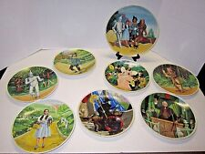 Vguc Wizard of Oz Knowles Complete set of 8 Collectors Plates 1977-1979 no Coa's