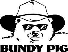 Bundy Pig 250 x 195  Quality Sticker UV rated