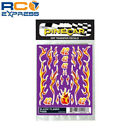 Pinecar Dry Transfer Decals Blazin Flames PIN4008