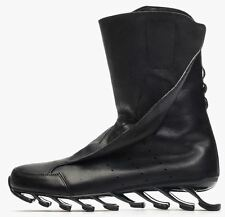 RICK OWENS x adidas Leather RO Springblade Boots High 11 US Free US Ship BLACK