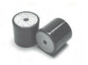 2 Pack: 110 - 400Kg Simple Female / Female Rubber Bobbin Anti Vibration Mount