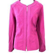 CHICO'S Bright Pink Stretch Cotton Suit Jacket Blazer Sport Coat Spring ~sz 0