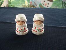 Vintage Pair of Avon Christmas Carolers Candle Holders(Plastic)