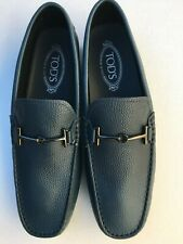 NEW Tod's Navy Blue Leather Loafers Mens Size 8.5