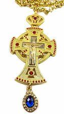 Pectoral Cross Red Zircons Crystallized Elements Christian Priest Jesus Crucifix