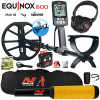 Minelab EQUINOX 800 Multi-IQ Metal Detector w/ Pro Find 35 Pinpointer, Carry Bag