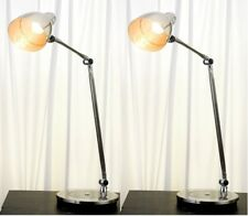 Pair Vintage Bedside Contemporary Style Retro Adjustable Reading Table Lamp