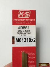 Square Laiton Brass Tube 5.55 mm 2p. ALBION ALLOYS SB3M Carré