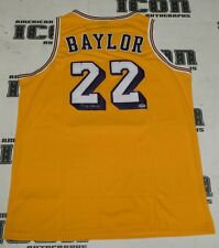Elgin Baylor Signed Los Angeles Lakers Basketball Jersey PSA/DNA COA Autograph