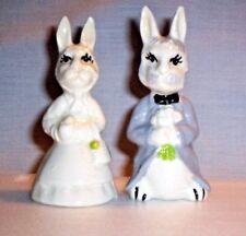 Rabbit T14 Br810 Ceramic Mr. and Mrs. Ber Rabbits Figurines