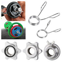 Weight Check Nut Dumbbell Spinlock Collars Spin Lock Screw Barbell Bar Clips