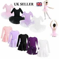 UK Child Girls Ballet Tutu Dress Gymnastics Leotard Ballerina Dance Wear Costume