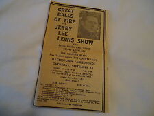 Jerry Lee Lewis - concert HAGERSTOWN Fairgrounds MD  - 1971 newsprint ad