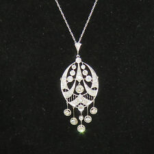 NYJEWEL 14k Gold Breathtaking 4ct Diamond Pendant Brooch Necklace $11999
