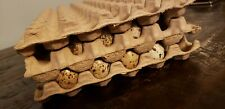 15 Moulded Paper Quail Egg Tray 7x13 Holds 50 Eggs Up To Jumbo Brown Coturnix