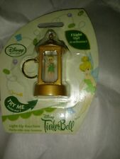 Tinker Bell disney store light up key chain lantern tink doll very hard to find