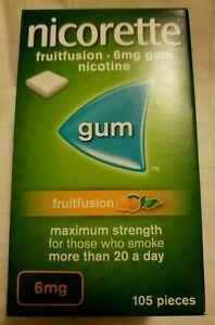 NICORETTE FRUIT FUSION 6mg GUM X 105 Pieces